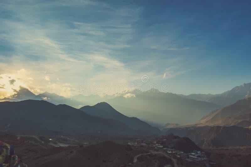 Het landschap van Nepal - Himalayan- stock foto's