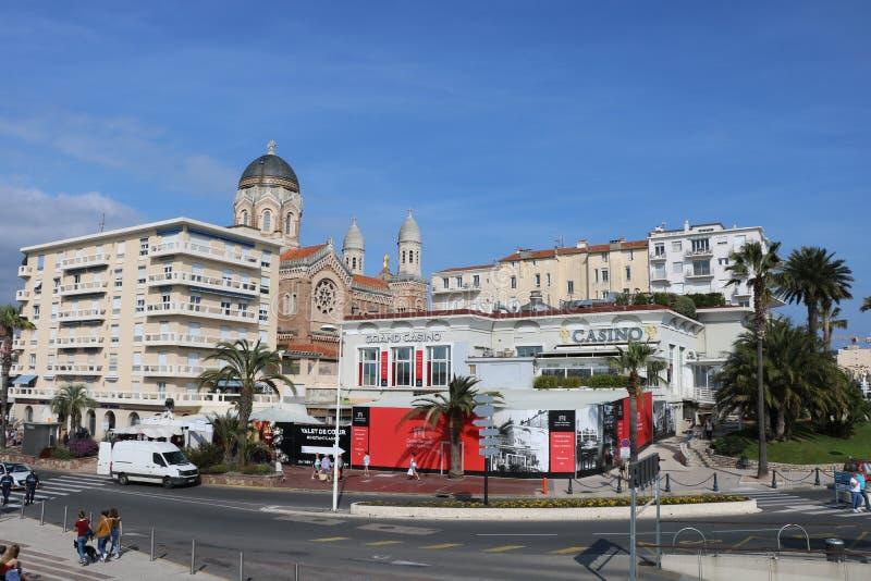 """Het landschap van Nice op """"blue coast† in Frejus Heilige Raphaele France, Frejus, Raphael van Heilige royalty-vrije stock afbeeldingen"""