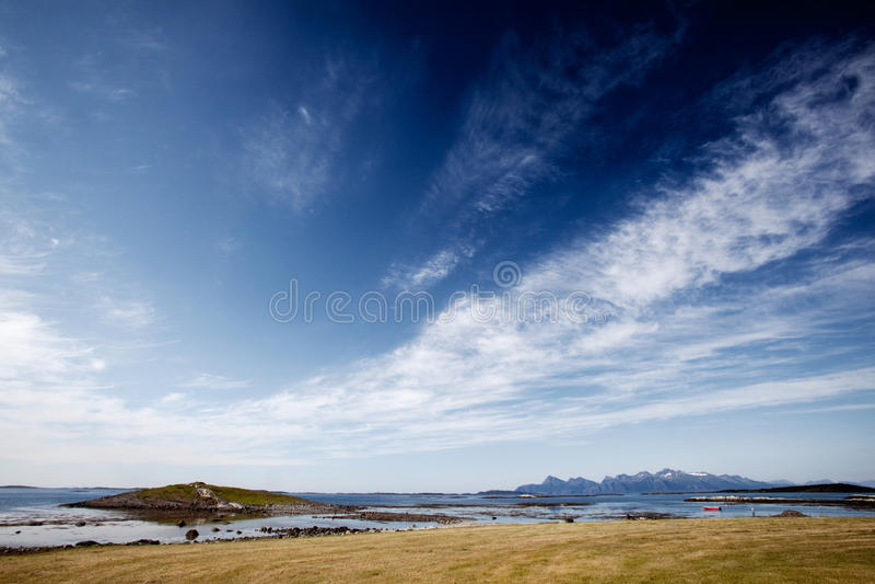 Het Landschap van Noorwegen stock foto's