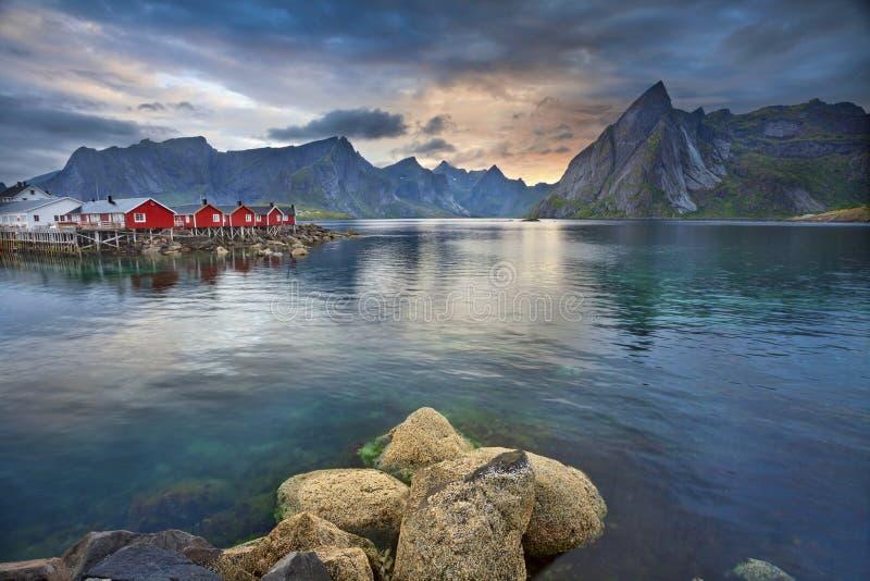 Het landschap van Norwgian stock foto