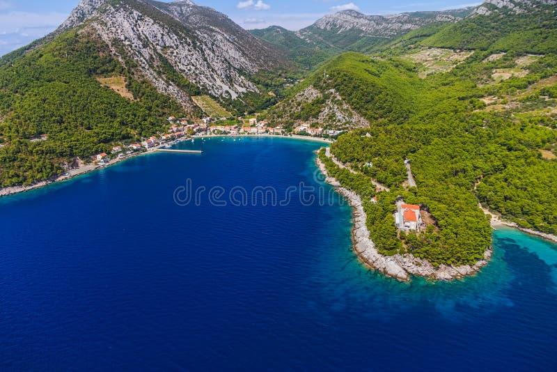 Het landschap van Peljesac royalty-vrije stock afbeelding