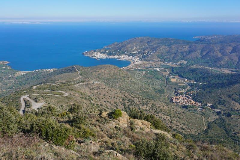 Het landschap van Spanje Costa Brava van de hoogten stock afbeeldingen