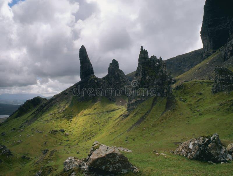 Het landschap van Storr, eiland van Skye, Schotland royalty-vrije stock afbeeldingen