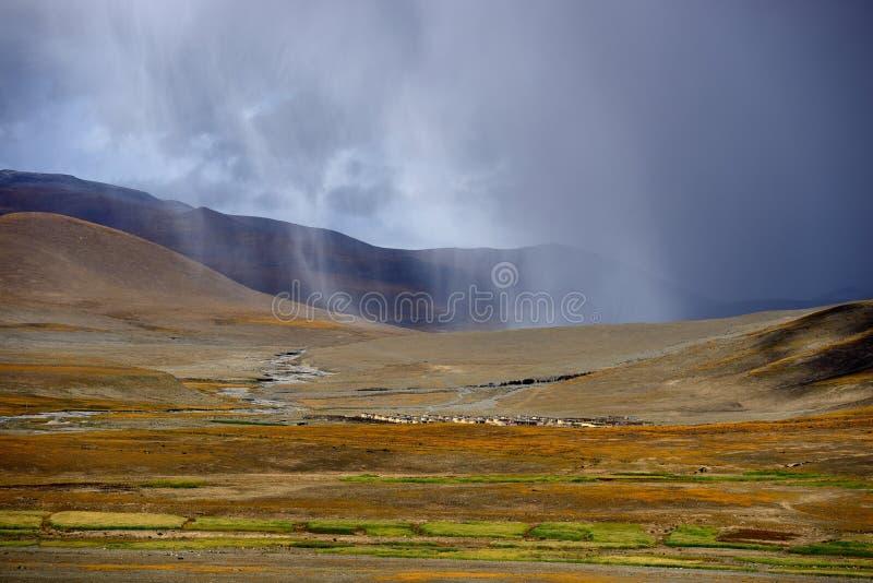 Het landschap van Tibet stock foto's