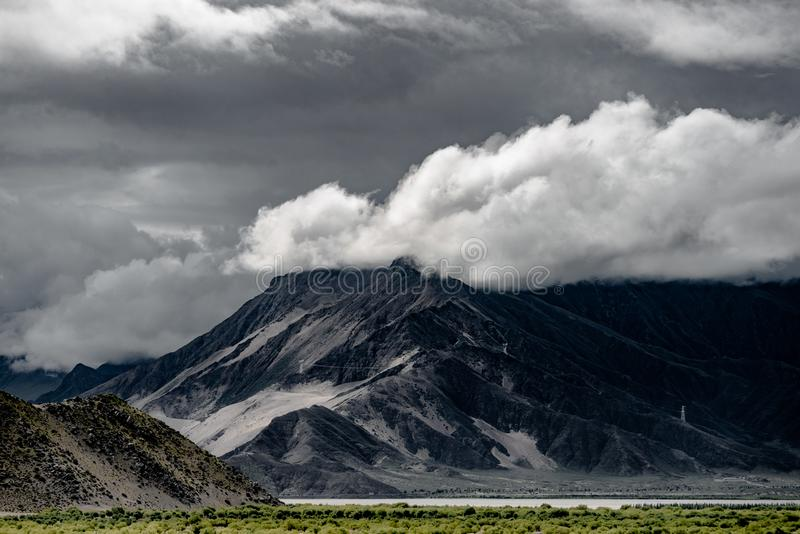 Het landschap van Tibet van China stock fotografie