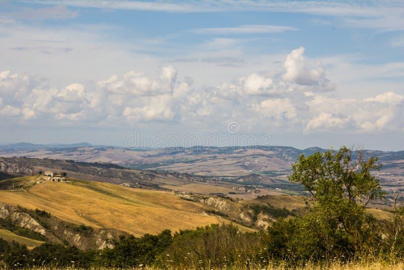 Het landschap van Tipicaltoscanië stock afbeelding