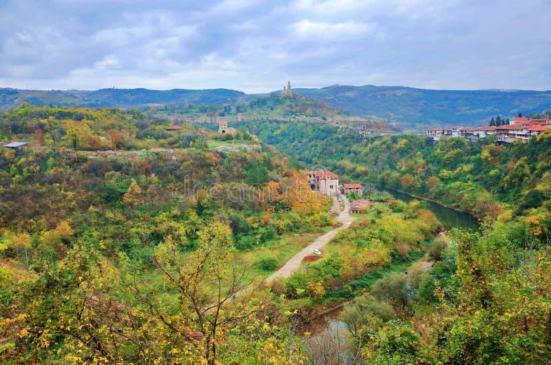 Het landschap van Velikotarnovo stock afbeeldingen