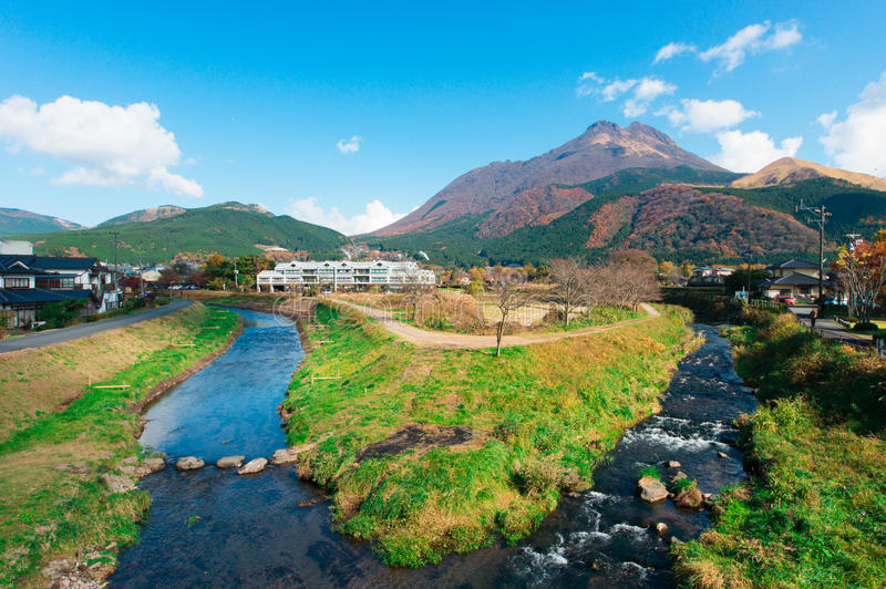 Het landschap van Yufuin royalty-vrije stock foto's
