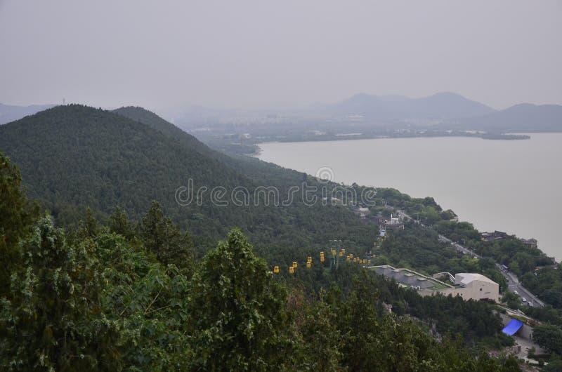 Het landschap van Yunlong-berg in Xuzhou, China royalty-vrije stock afbeelding