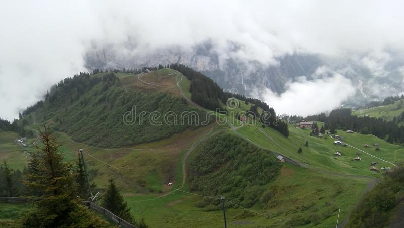 Het landschap van Zwitserland stock afbeeldingen