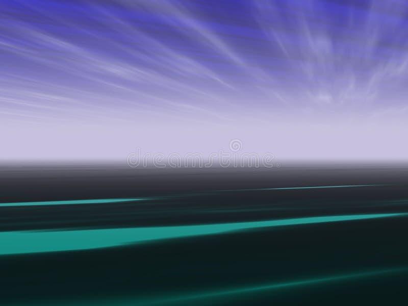 Het landschapsachtergrond van het perspectief vector illustratie