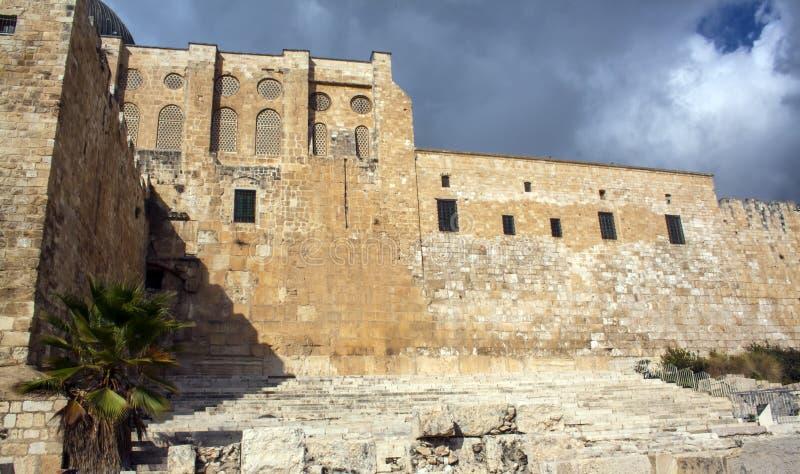 Het landschapsori?ntatiepunten van Isra?l De mening van Jeruzalem royalty-vrije stock afbeelding