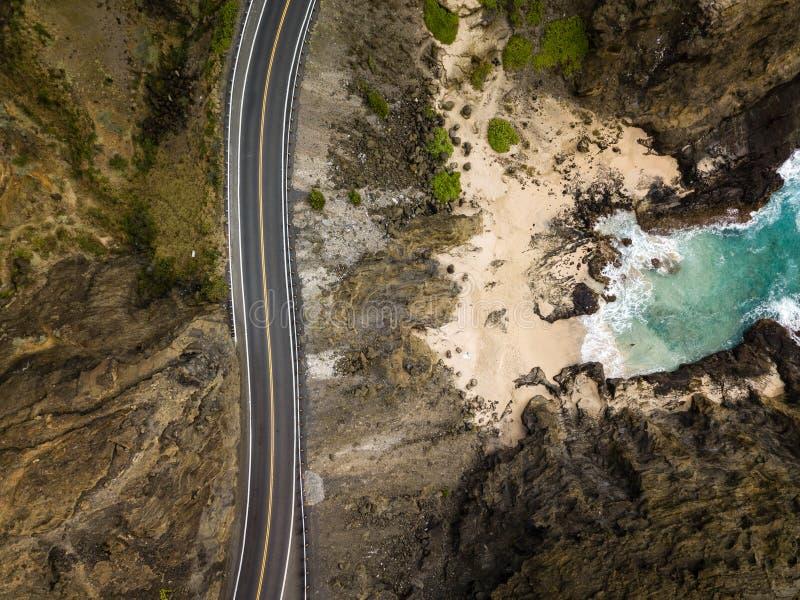 Het Landschapsweg Oahu, Hawaï van de Halonainham royalty-vrije stock afbeeldingen