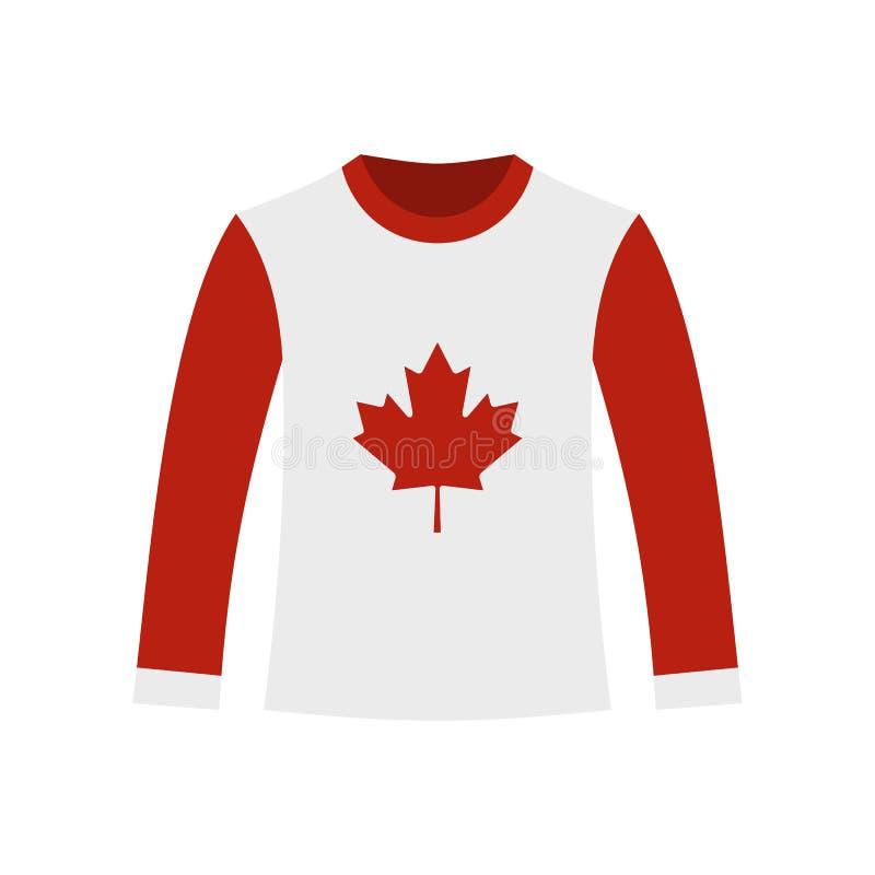 Het lang-sleeved pictogram van het sportoverhemd, vlakke stijl vector illustratie