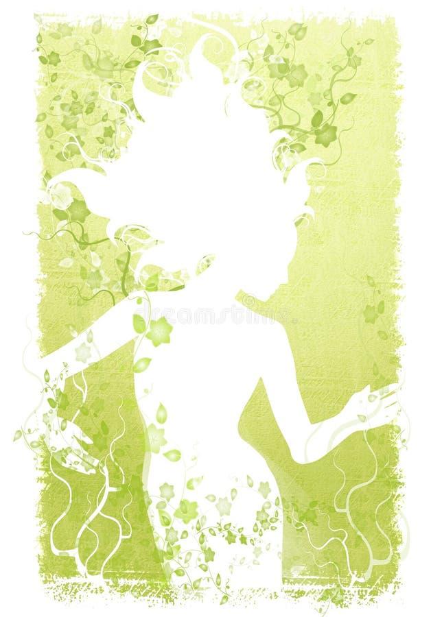 Het lange Natuurlijke Licht van de Wijnstokken van het Haar vector illustratie