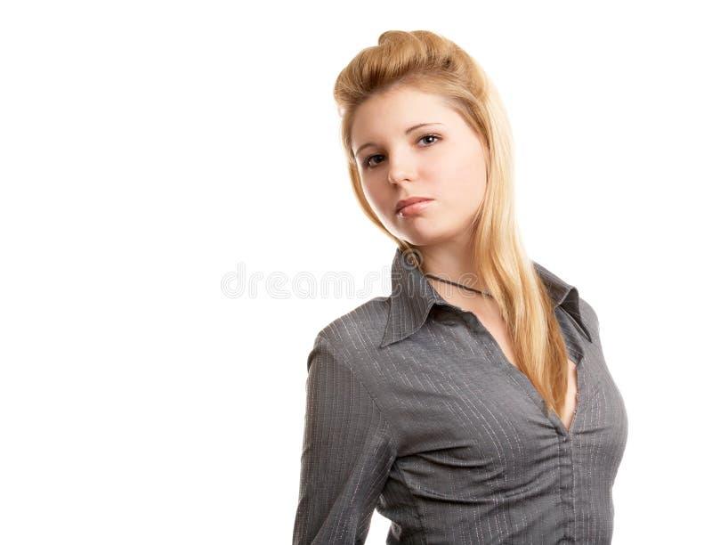 Het langharige meisje van de blonde stock afbeeldingen