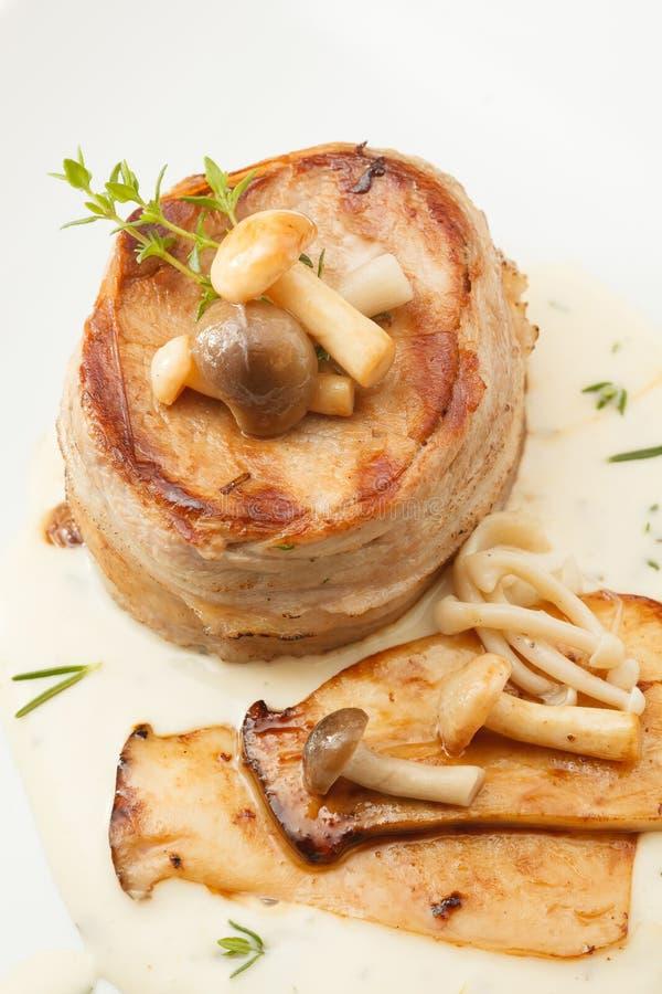 Het lapje vlees van de varkensvleesfilet stock afbeelding
