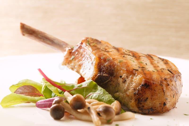 Het lapje vlees van de varkensvleesrib stock foto