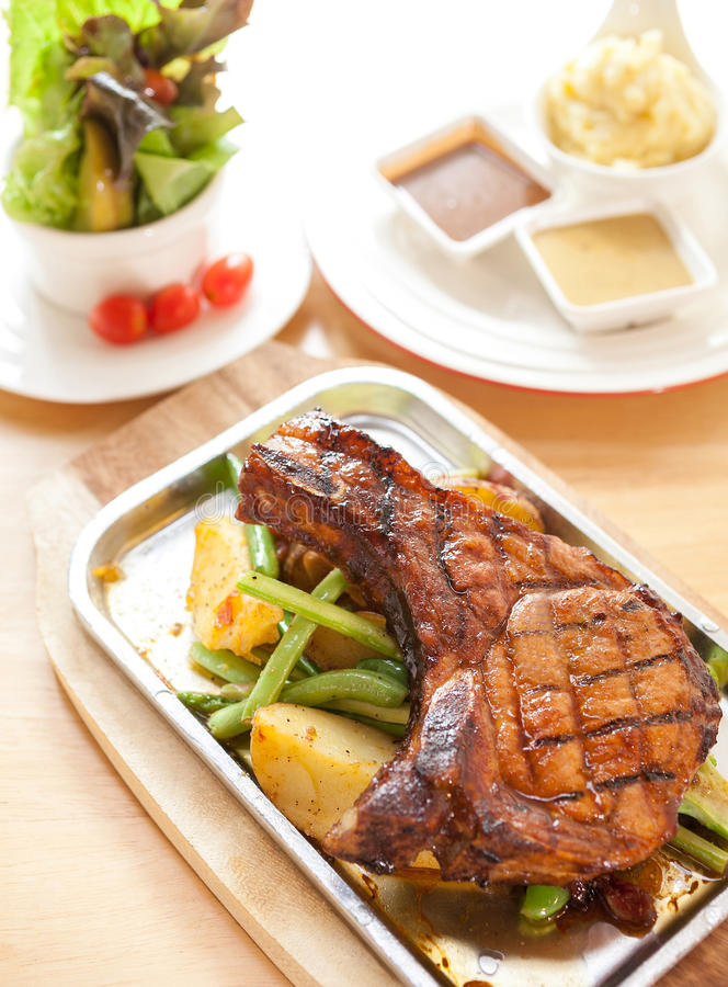 Het lapje vlees van de varkensvleesrib royalty-vrije stock fotografie