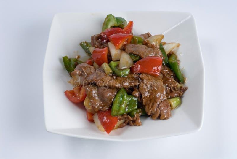 Het lapje vlees van het rundvlees met peper royalty-vrije stock afbeelding