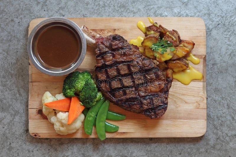 Het Lapje vlees van het Rundvlees van de grill stock fotografie