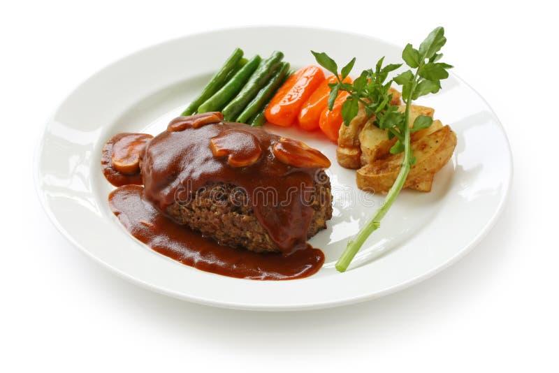 Het lapje vlees van Salisbury stock afbeeldingen