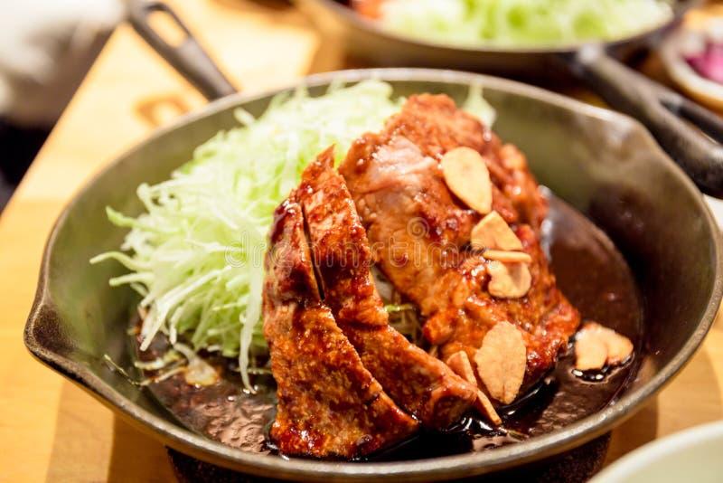 Het lapje vlees van het varkensvleeslendestuk royalty-vrije stock afbeeldingen