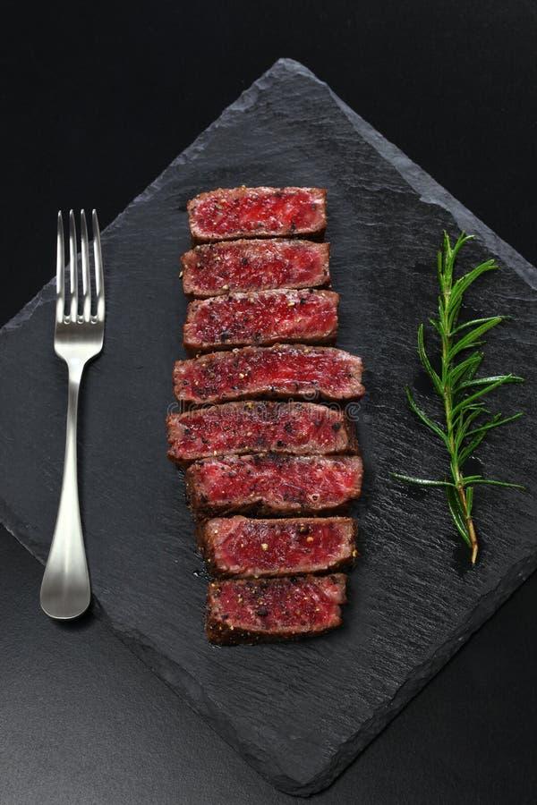 Het lapje vlees van het Wagyurundvlees, Japans voedsel stock foto's