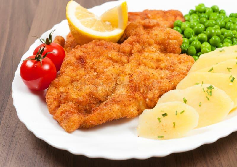 Het lapje vlees van Wenen royalty-vrije stock foto's
