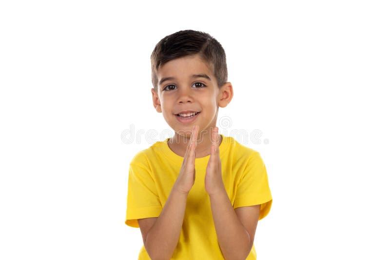 Het Latijnse kind bidden stock fotografie