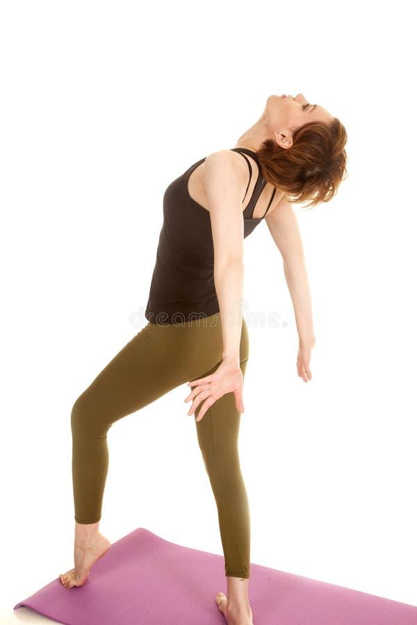 Het Latijnse terug getipte hoofd van de vrouwendans stock afbeelding