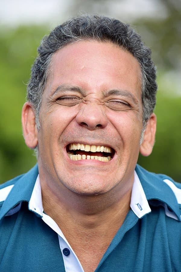 Het Latino Mannelijke Lachen royalty-vrije stock afbeeldingen