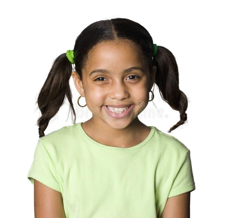 Het Latino meisje glimlachen royalty-vrije stock foto's