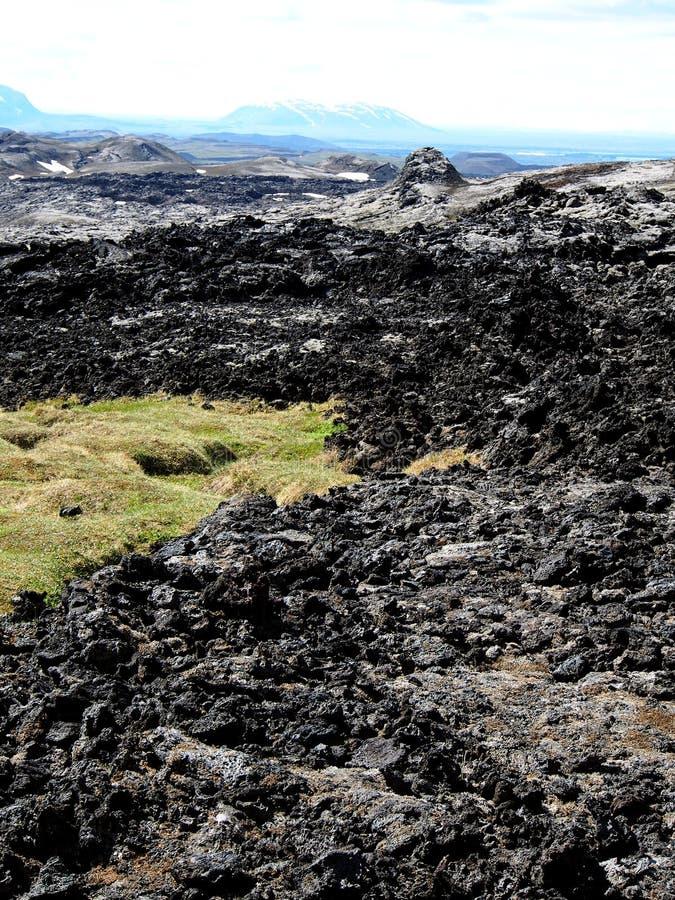 Het lavagebied van Leirhnjukur royalty-vrije stock afbeelding
