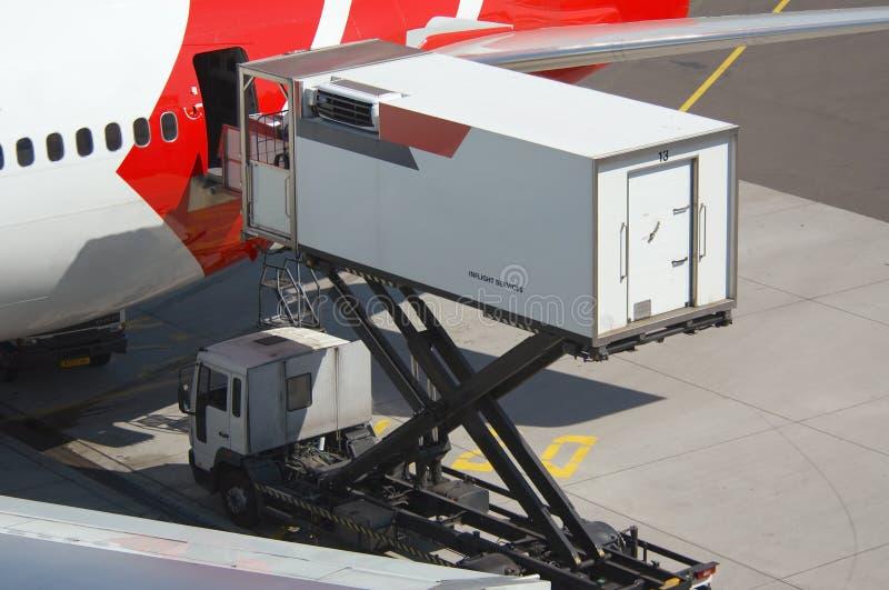 Het leegmaken van een vliegtuig stock foto's