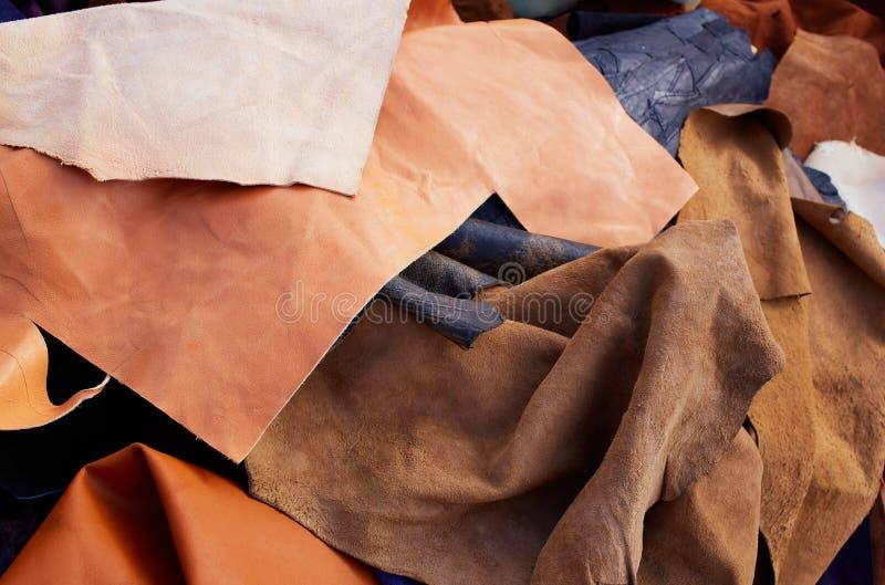 Het leer slordige gemengde materialen van het daimsuède stock fotografie