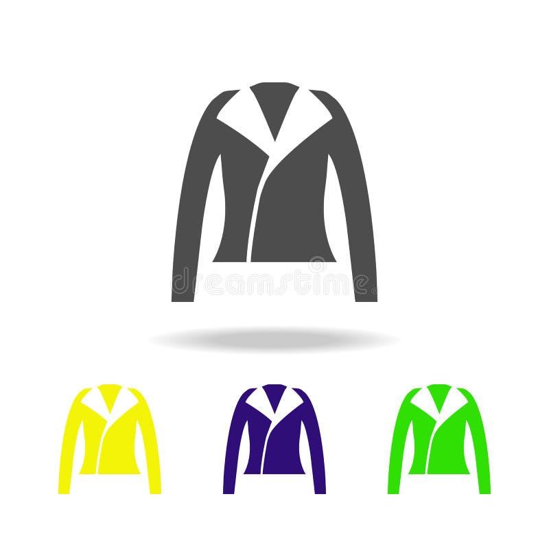 Het leerjasje, vormt multicolored pictogrammen Kan voor Web, embleem, mobiele toepassing, UI, UX worden gebruikt vector illustratie