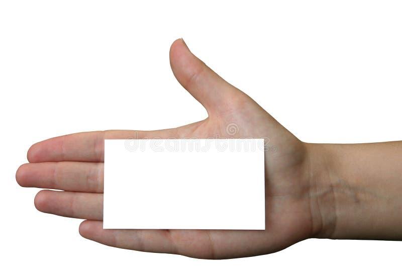 Het lege adreskaartje van de holding #2 royalty-vrije stock afbeelding