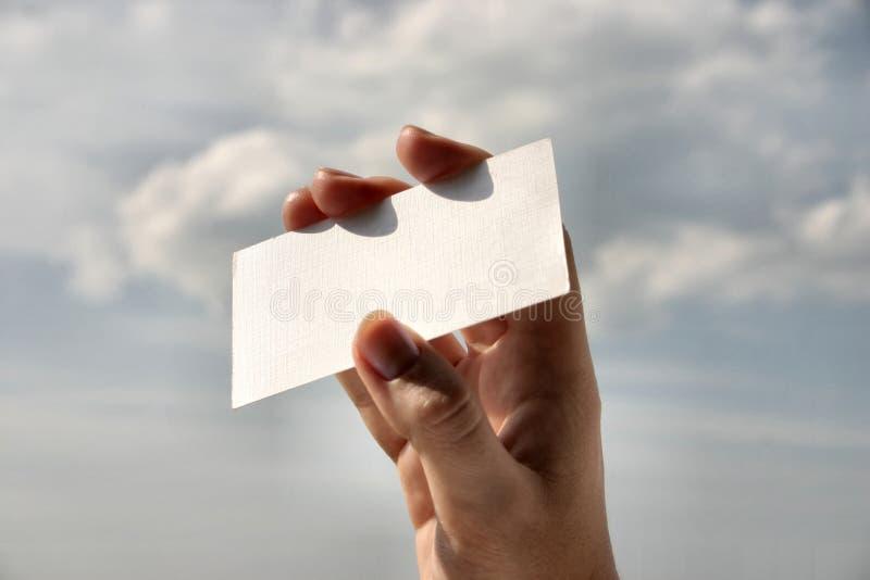 Het lege adreskaartje van de holding #8 stock foto's