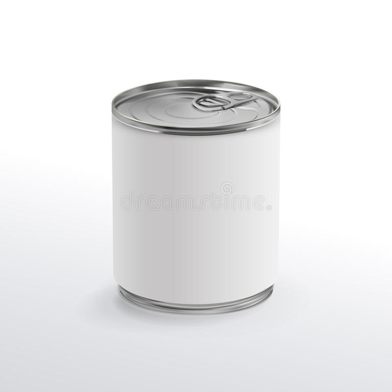 Het lege aluminium kan stock illustratie