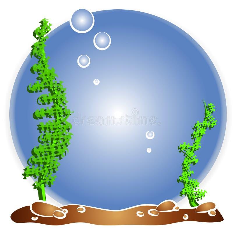 Het lege Aquarium van Vissen Fishbowl stock illustratie