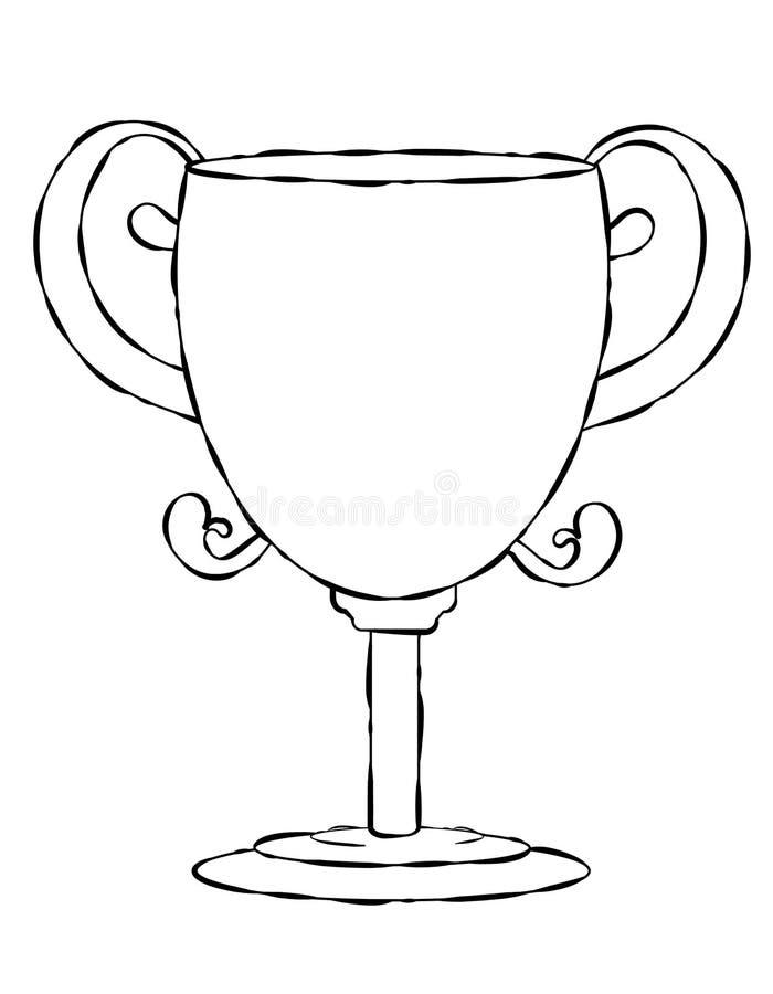 Het lege Art. van de Lijn van de Trofee van het Gezicht royalty-vrije illustratie