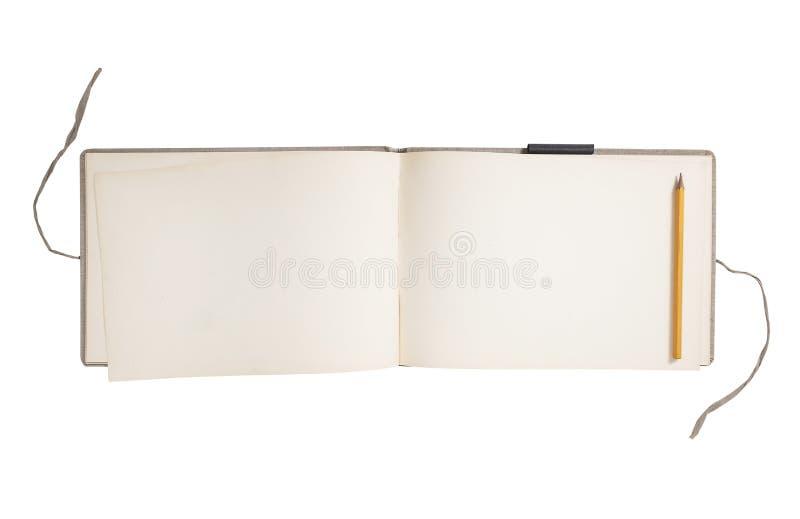 Het lege Boek van de Schets royalty-vrije stock afbeelding