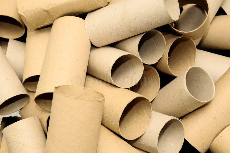 Het lege Broodje van het Toiletpapier stock foto