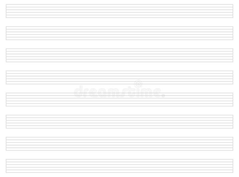 Het lege Document van de Gitaarmuziek royalty-vrije illustratie