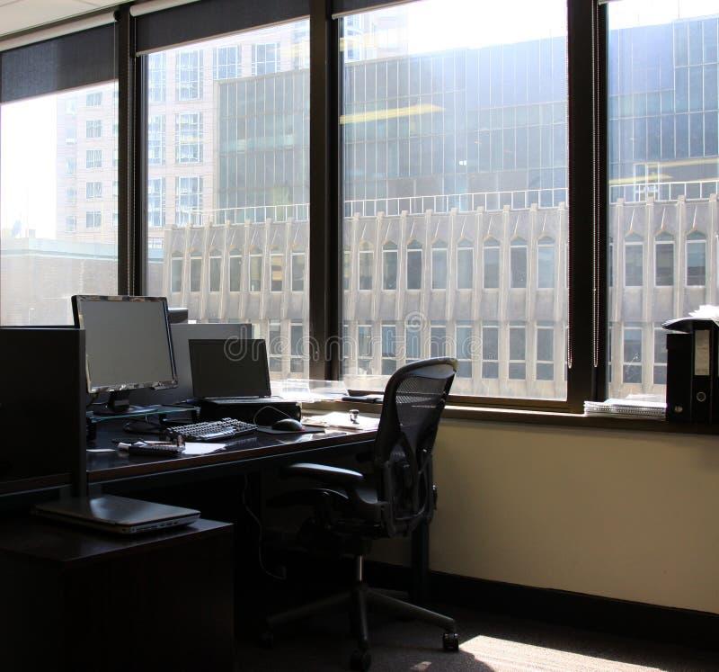 Het lege en werkloze werkstation royalty-vrije stock foto