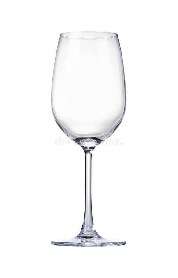 Het lege Glas van de Wijn stock afbeeldingen