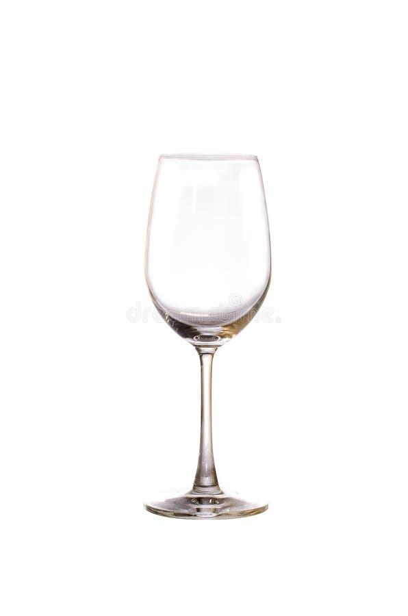 Het lege Glas van de Wijn royalty-vrije stock fotografie