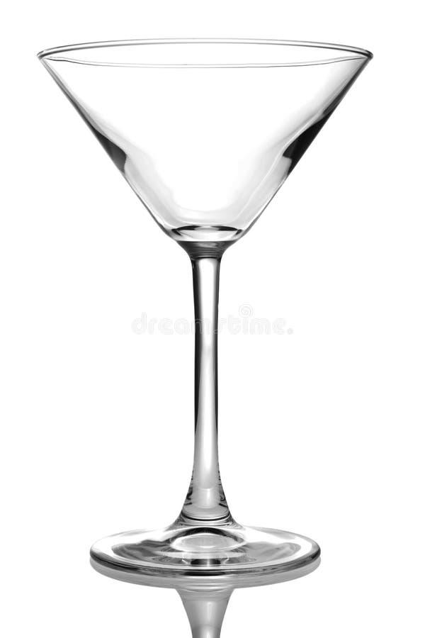 Het lege glas van martini stock afbeeldingen