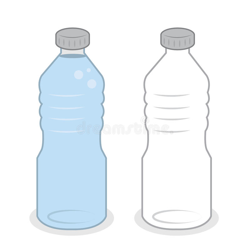 Het Lege Hoogtepunt van de waterfles vector illustratie